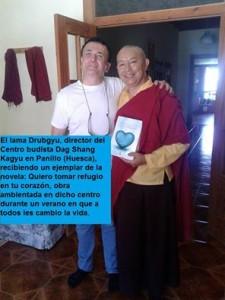 Álex de Sande y el Lama Drubgyu Tenpa (Director de DSK)