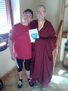 Álex de Sande y el Monje Karma Tenpa