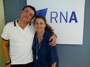 Lourdes Prat con Álex de Sande.